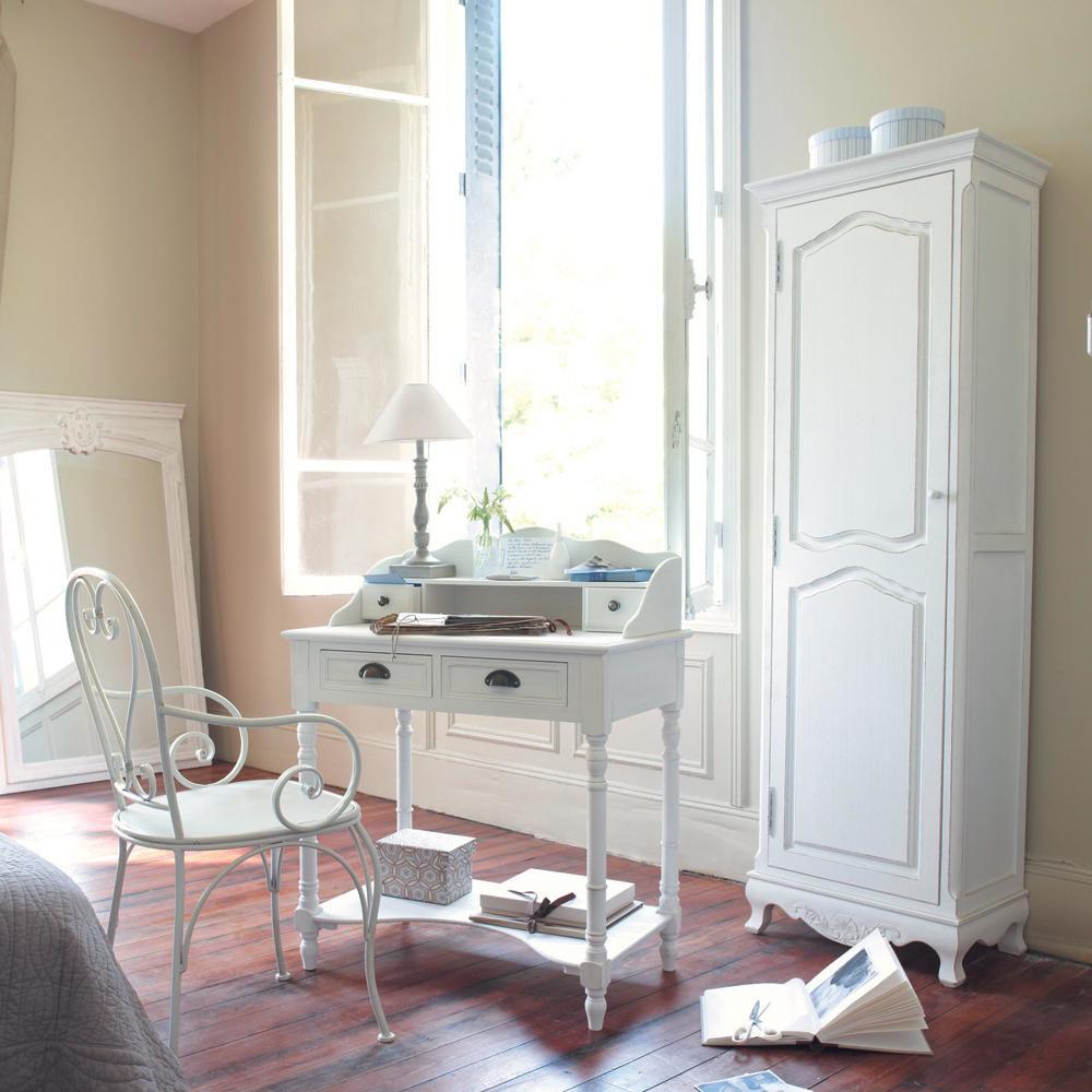 Bonneti re en bois de paulownia blanche l 60 cm jos phine maisons du monde - Maison du monde draps ...