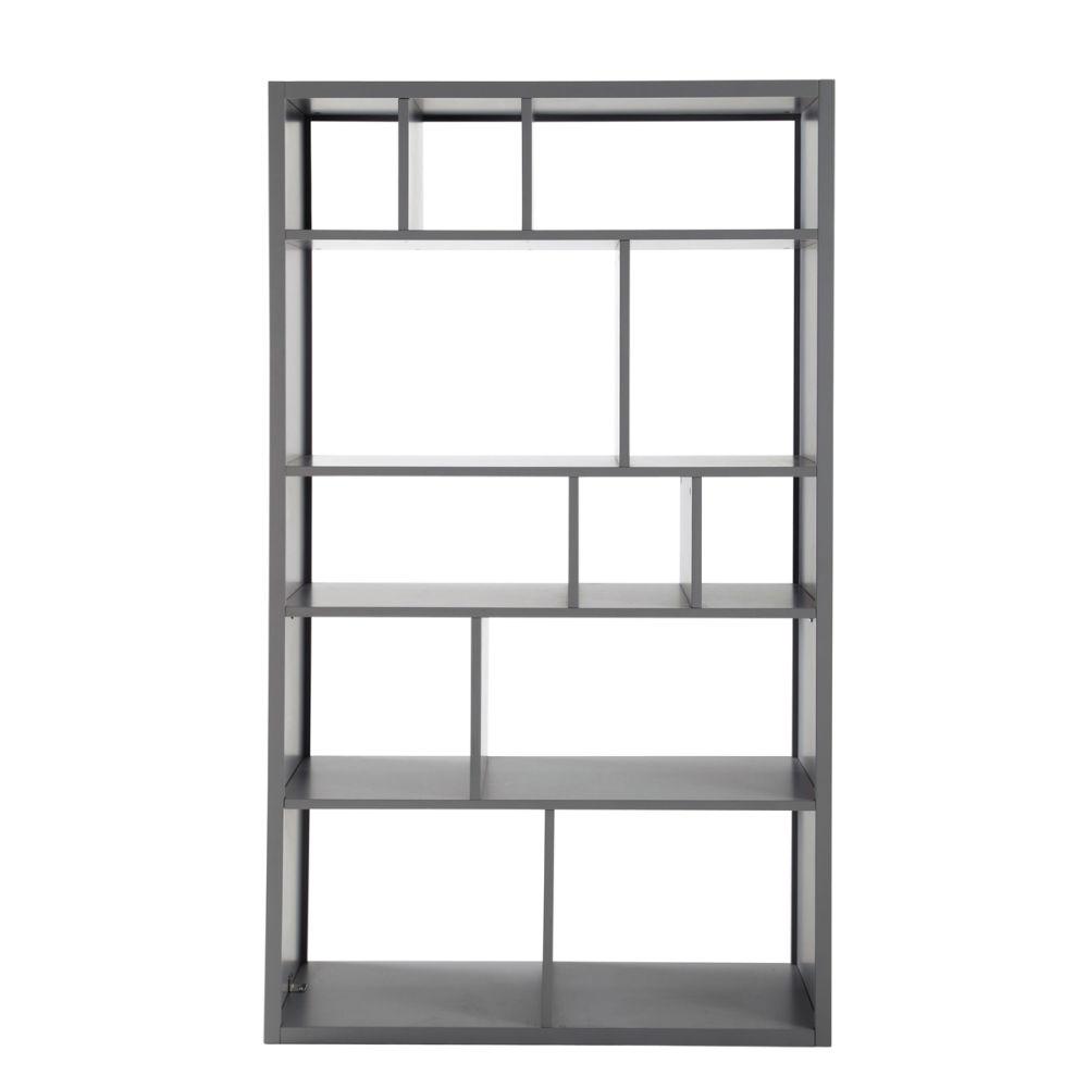 tag re biblioth que grise tonic maisons du monde. Black Bedroom Furniture Sets. Home Design Ideas