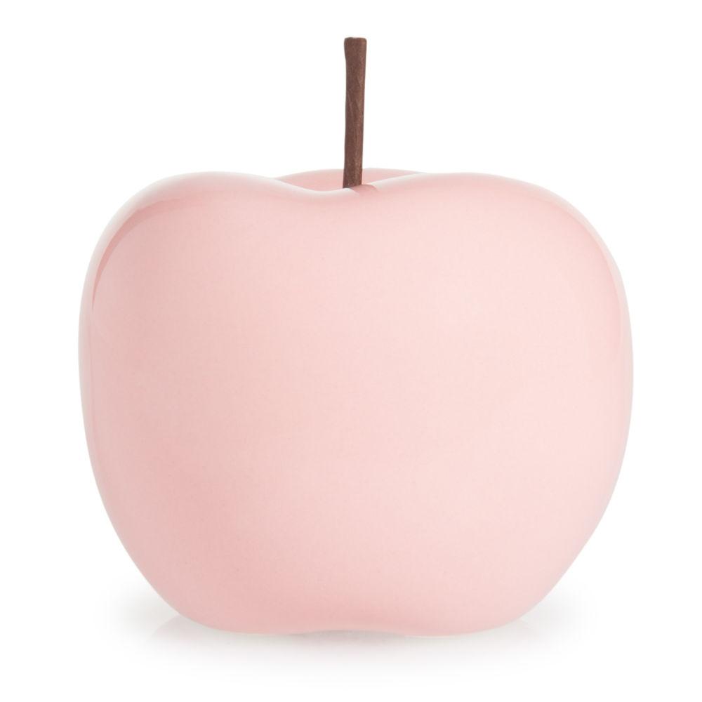 statuette pomme rose h 12 cm malmo maisons du monde - Pomme Ceramique Pour Decoration