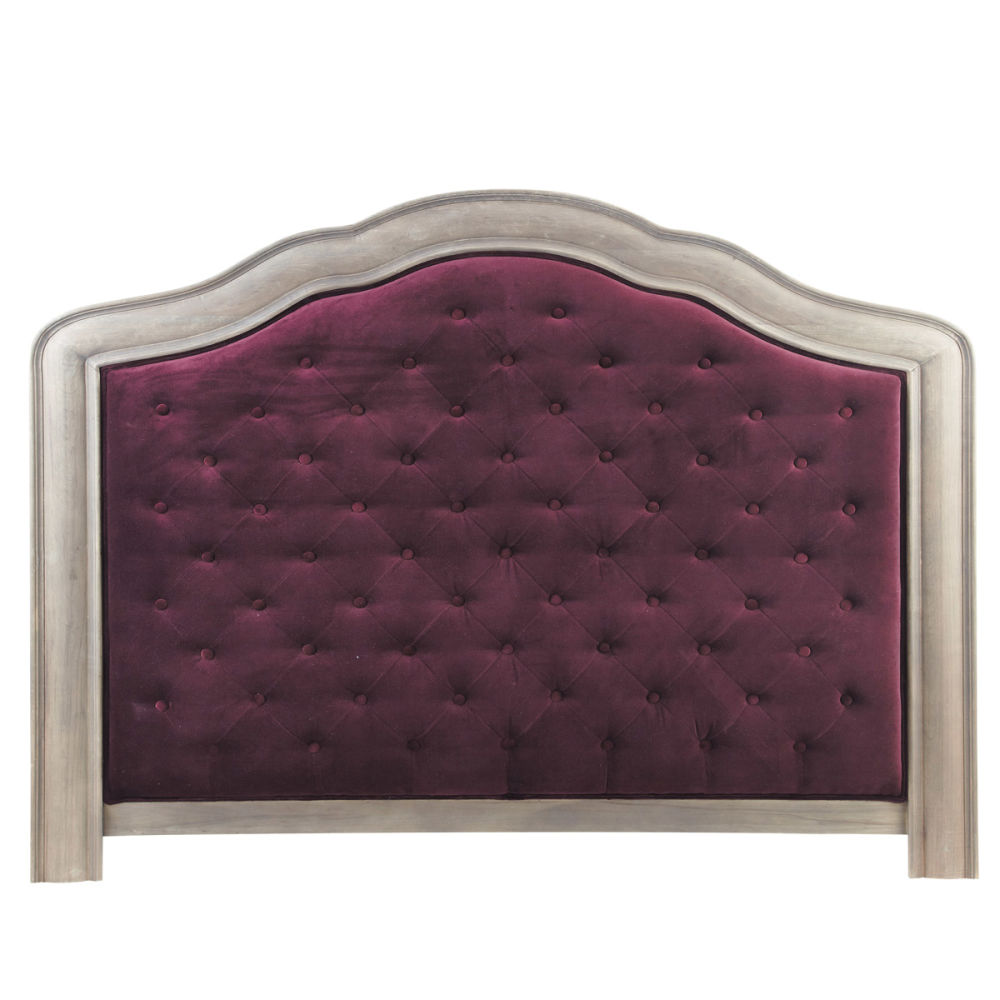 Tête de lit 160 velours violet Domitille  Maisons du Monde