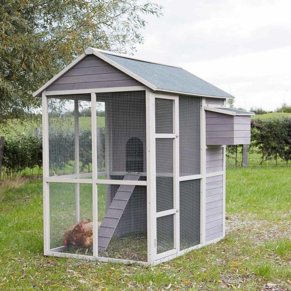 Pollaio grigio in legno h 175 cm cocotte maisons du monde for Maison du monde jardin