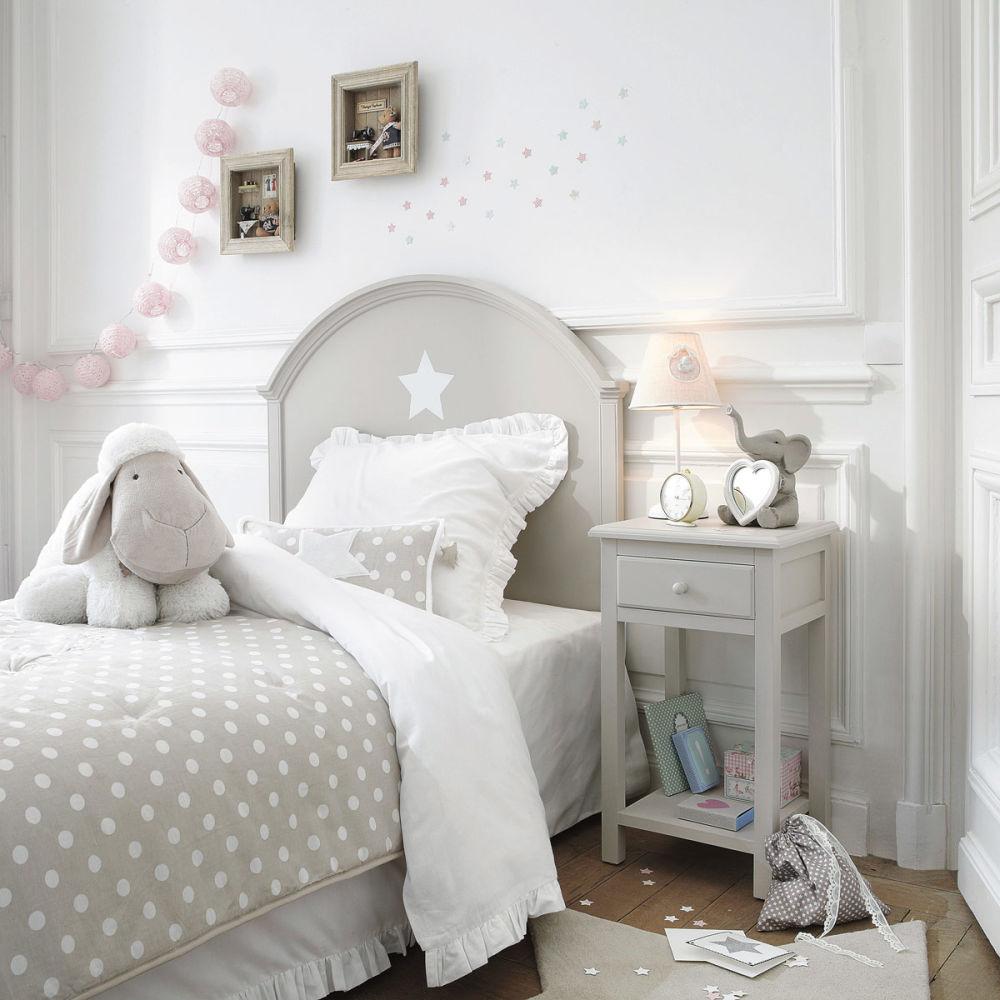Tête de lit enfant 90 cm taupe Pastel  Maisons du Monde