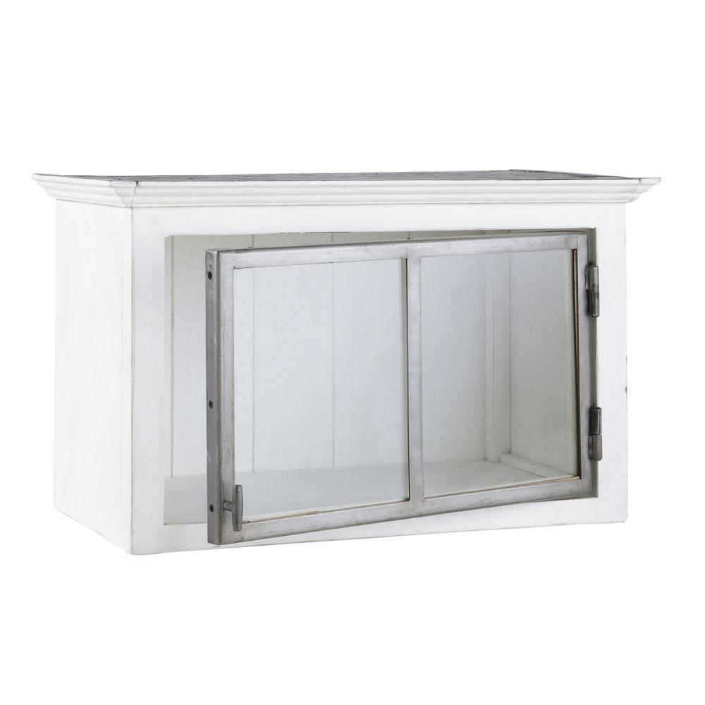 meuble haut de cuisine ouverture droite en bois recycl. Black Bedroom Furniture Sets. Home Design Ideas