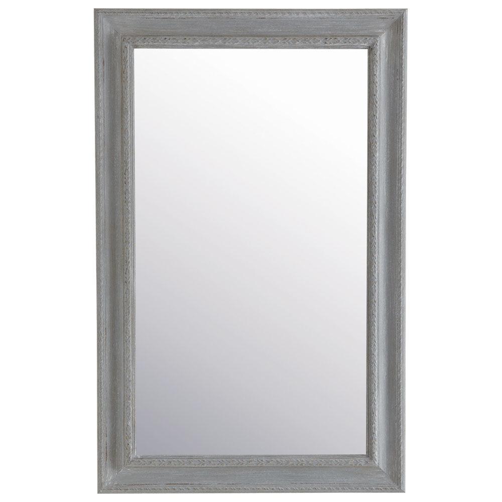 Miroir l onore gris 90x140 maisons du monde for Grand miroir gris
