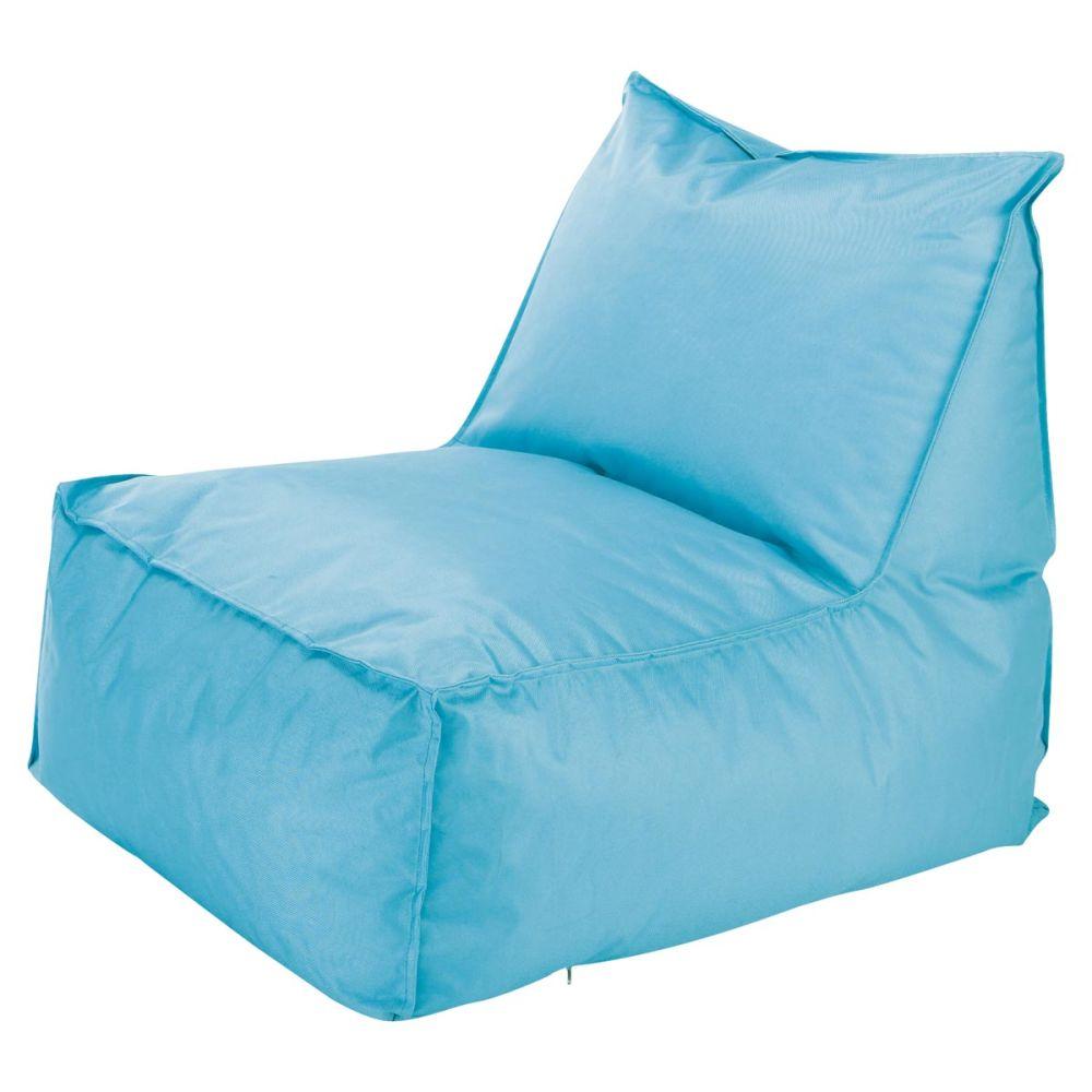 Chauffeuse d 39 ext rieur pouf billes turquoise papagayo - Fauteuil turquoise contemporain ...