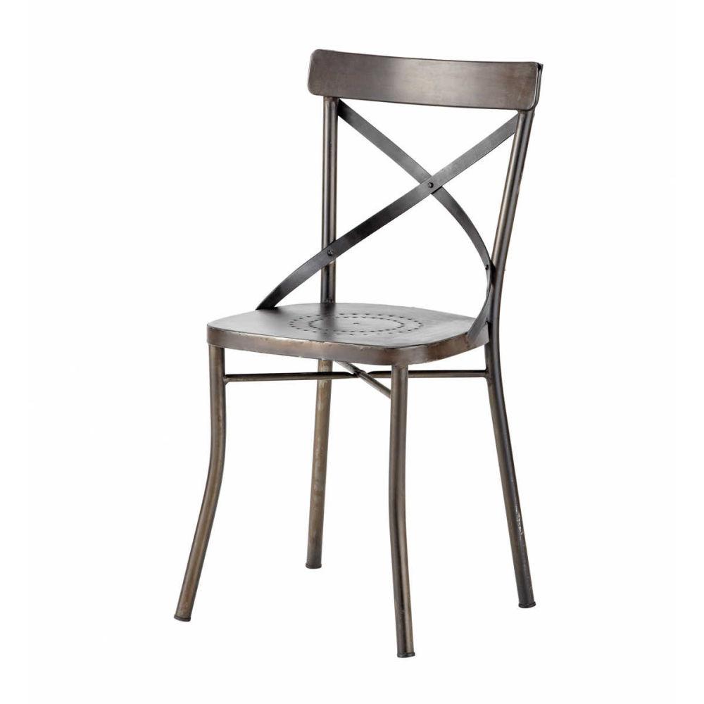 Chaise de jardin m tal tradition maisons du monde - Chaises jardin metal ...