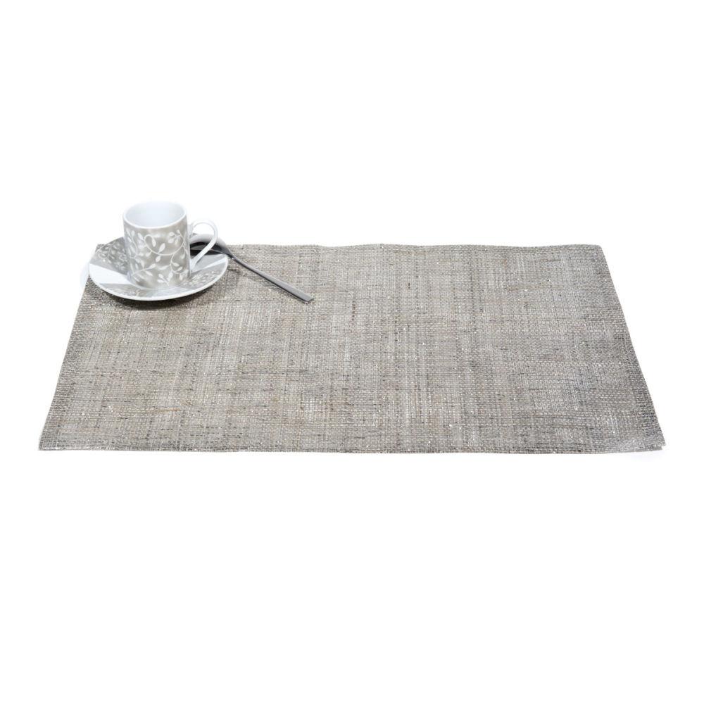 Set de table gris clair paillet maisons du monde - Set de table gris ...