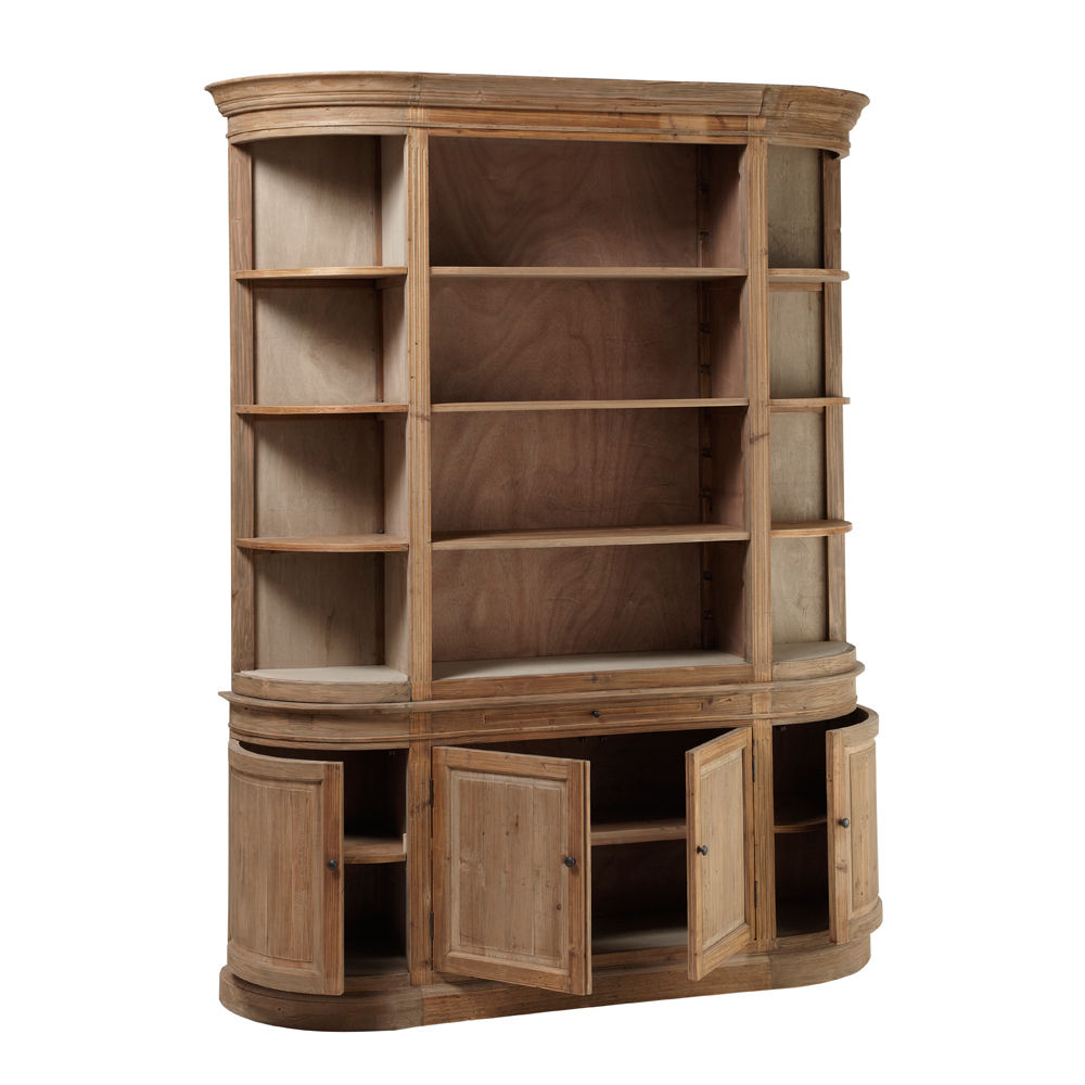 biblioth que en bois recycl l 190 cm flaubert maisons. Black Bedroom Furniture Sets. Home Design Ideas