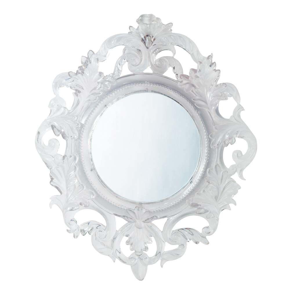 Miroir baroque translucide maisons du monde for Miroir petit