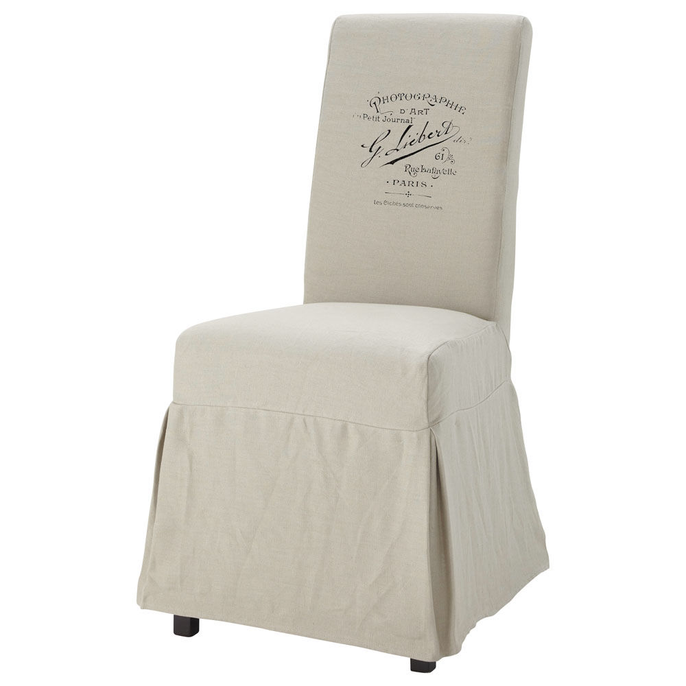 Housse de chaise margaux antan maisons du monde for Housse de chaise carrefour