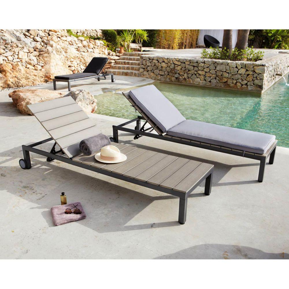Matelas pour chaise longue coussin pour chaise longue - Chaise longue pour piscine ...