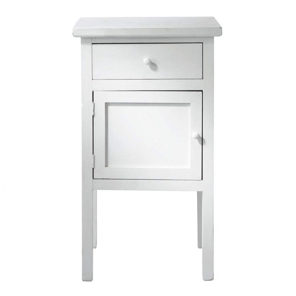 Table de nuit blanc conceptions de maison for Table de nuit maison du monde