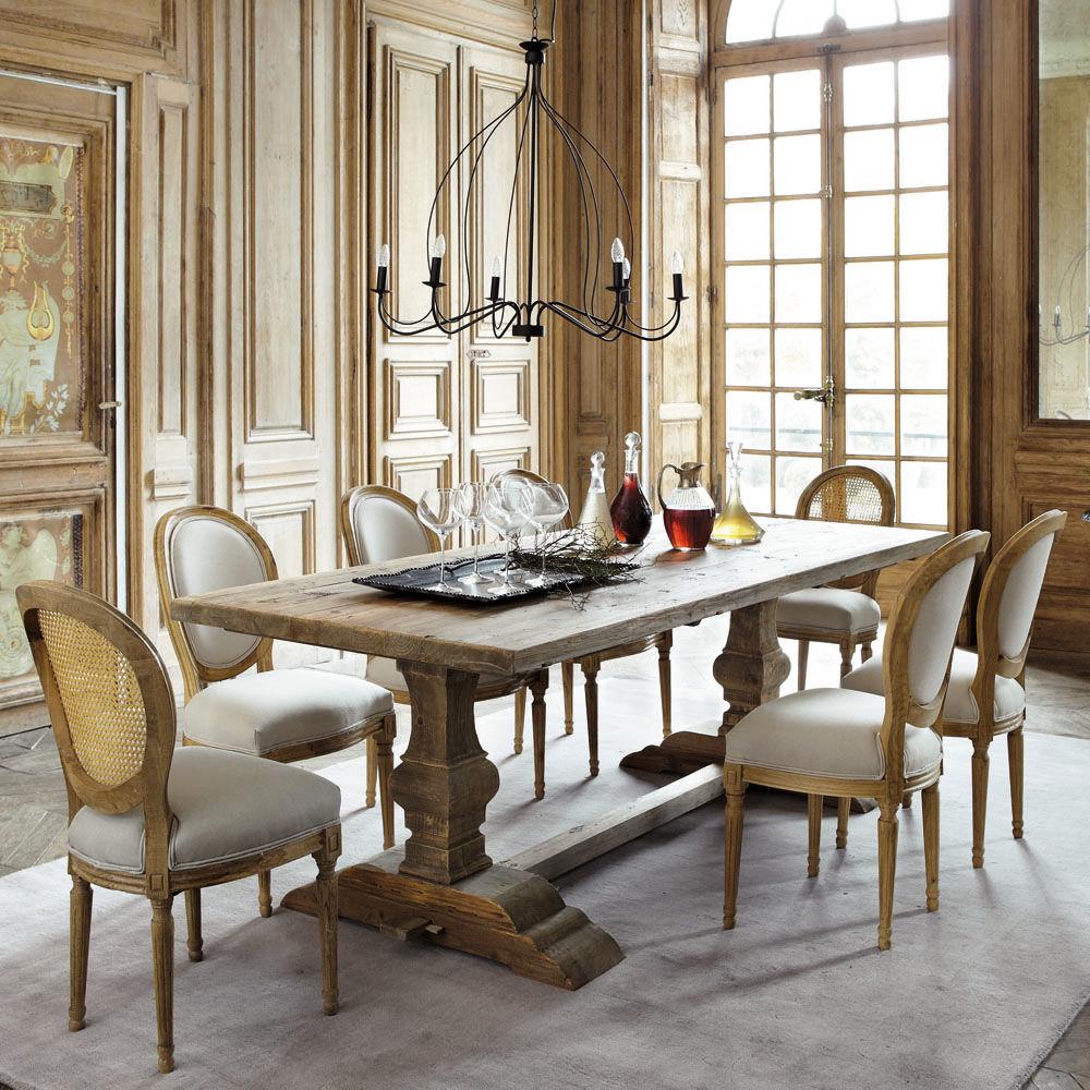 Chaise lin louis maisons du monde for Table clic clac maison du monde