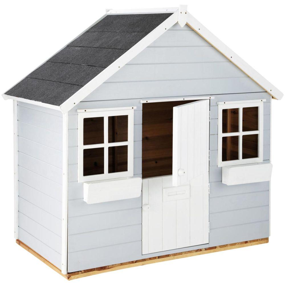 Cabane de jardin enfant grise lola maisons du monde for Cabane de jardin hornbach