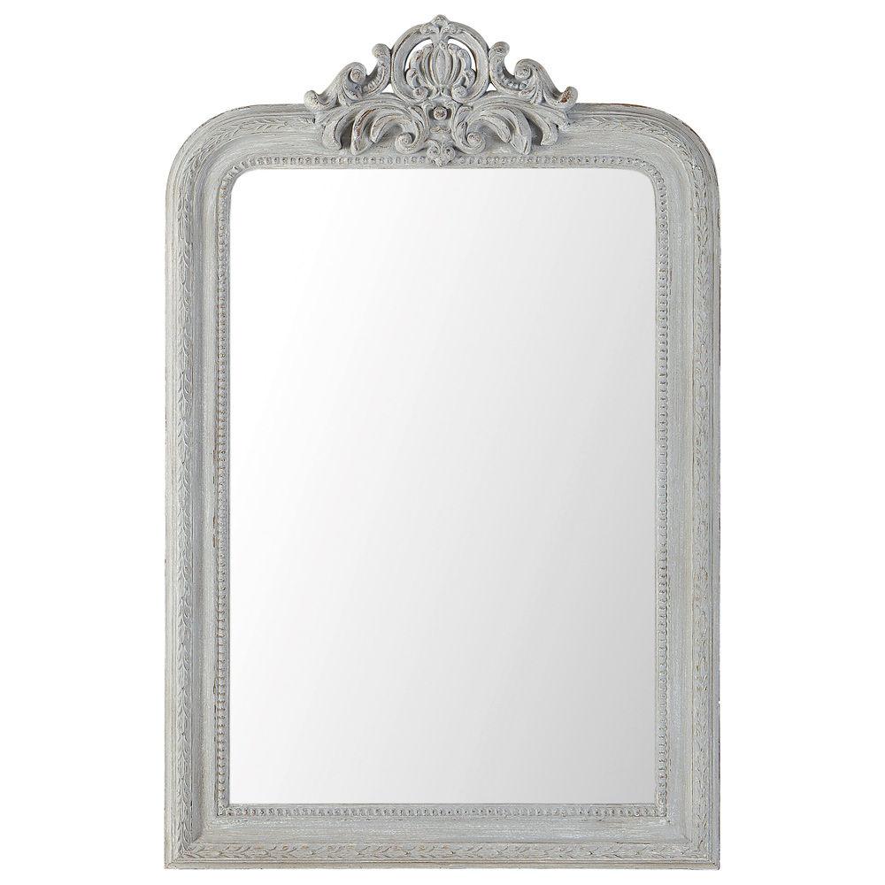 Miroir altesse gris maisons du monde for Miroir industriel maison du monde