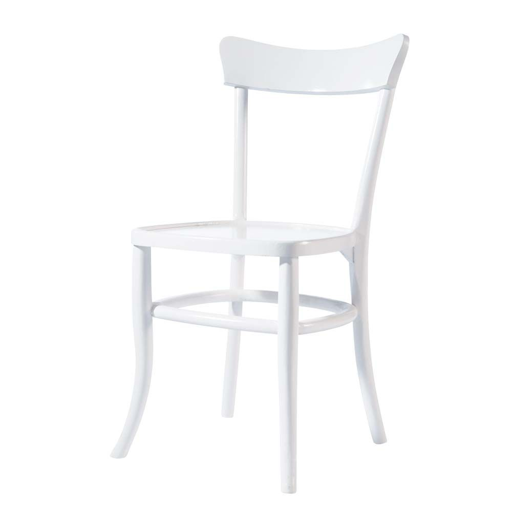 Chaise cuisine blanche et bois for Chaise ikea blanche