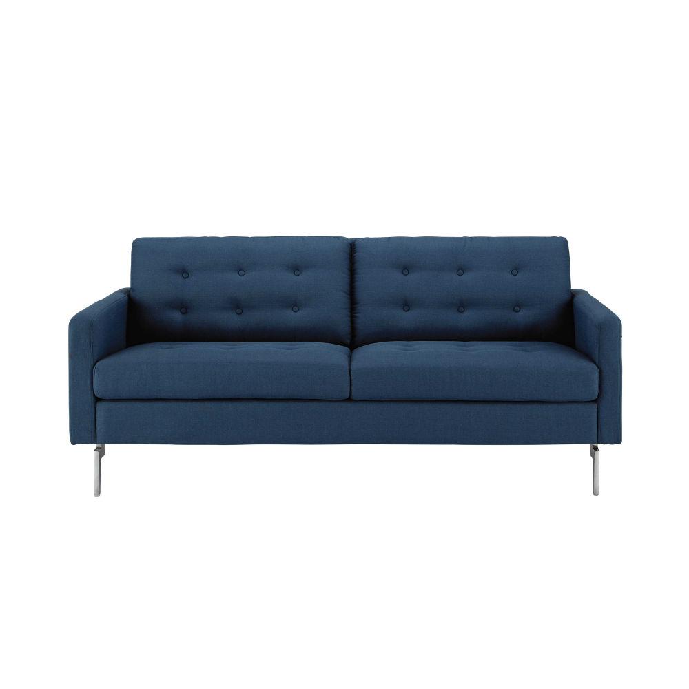 canap 23 places en tissu bleu nuit victor maisons du monde - Canape Bleu