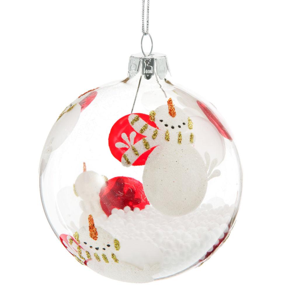 bolas con distintos motivos cabalgata de navidad mueco de nieve santa y angelito de