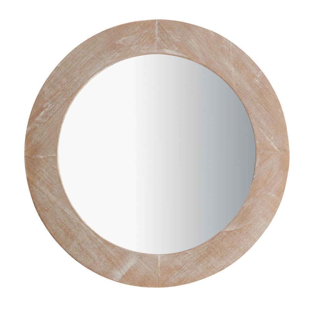 Miroir natura c rus rond maisons du monde for Petit miroir rond
