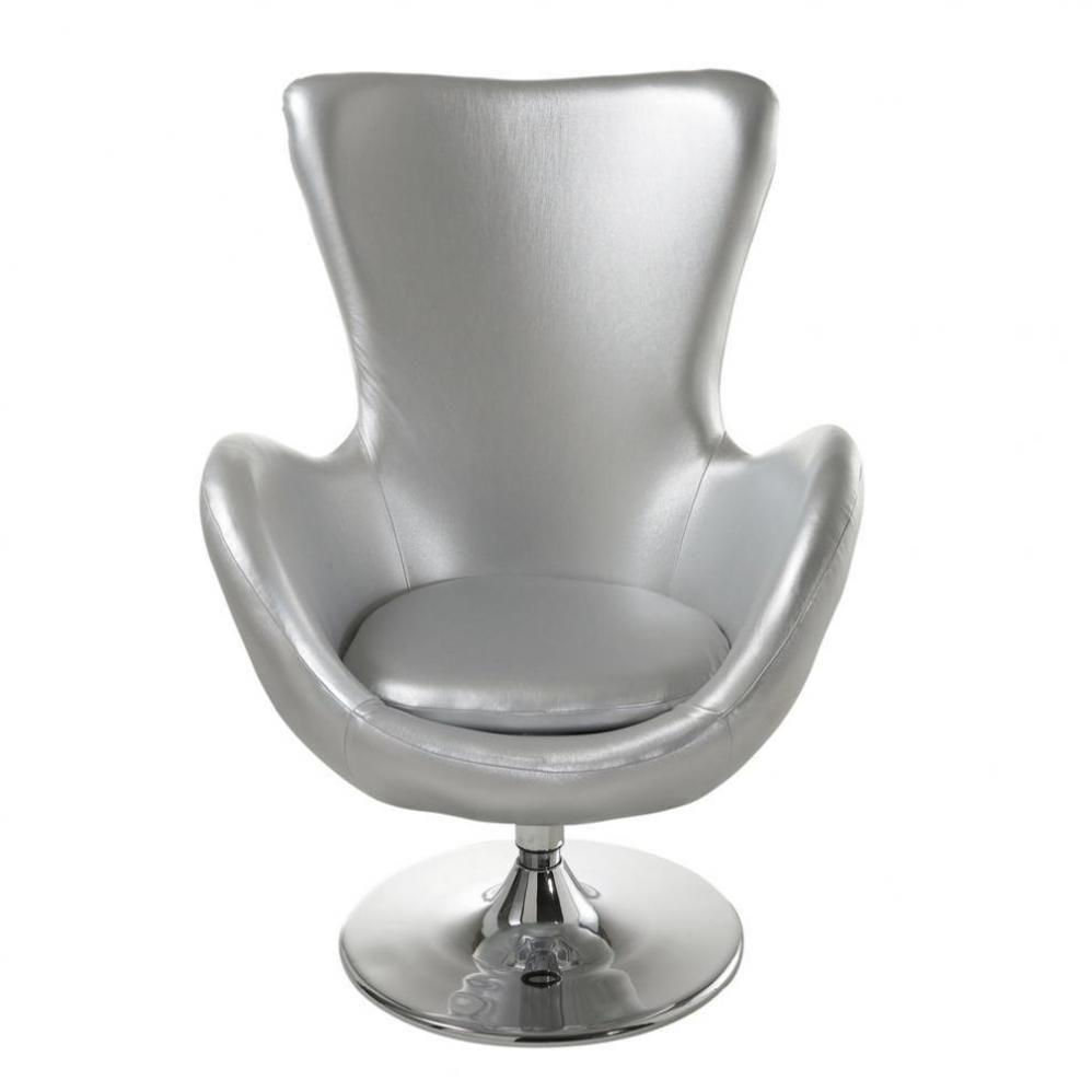 fauteuil argent tulipe maisons du monde. Black Bedroom Furniture Sets. Home Design Ideas