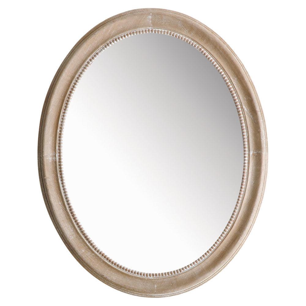 Miroir louis ovale naturel maisons du monde for Miroir 80x160