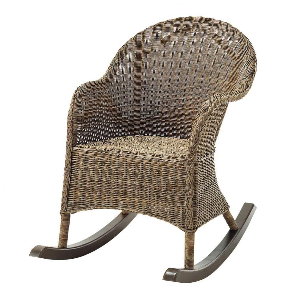 Rocking chair hampton maisons du monde - Coussin pour fauteuil en rotin ou osier ...
