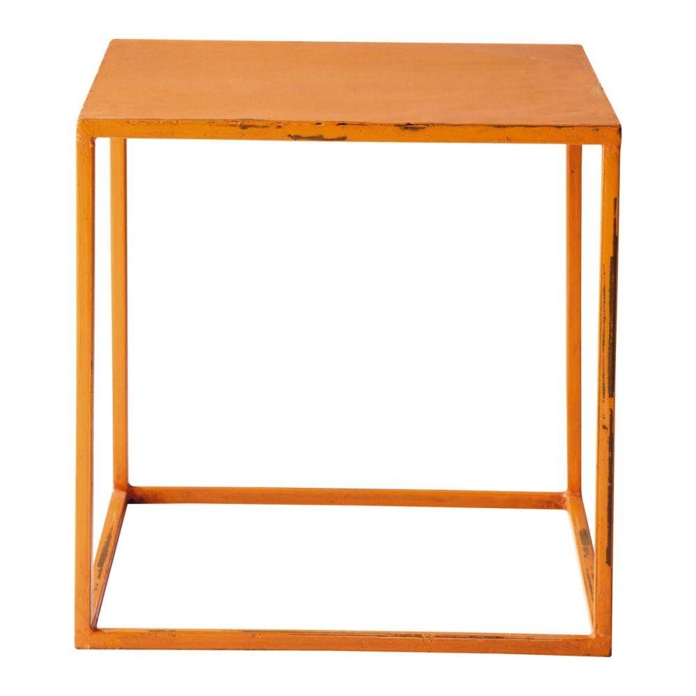 Industrial Orange Coffee Table Edison Edison Maisons Du Monde