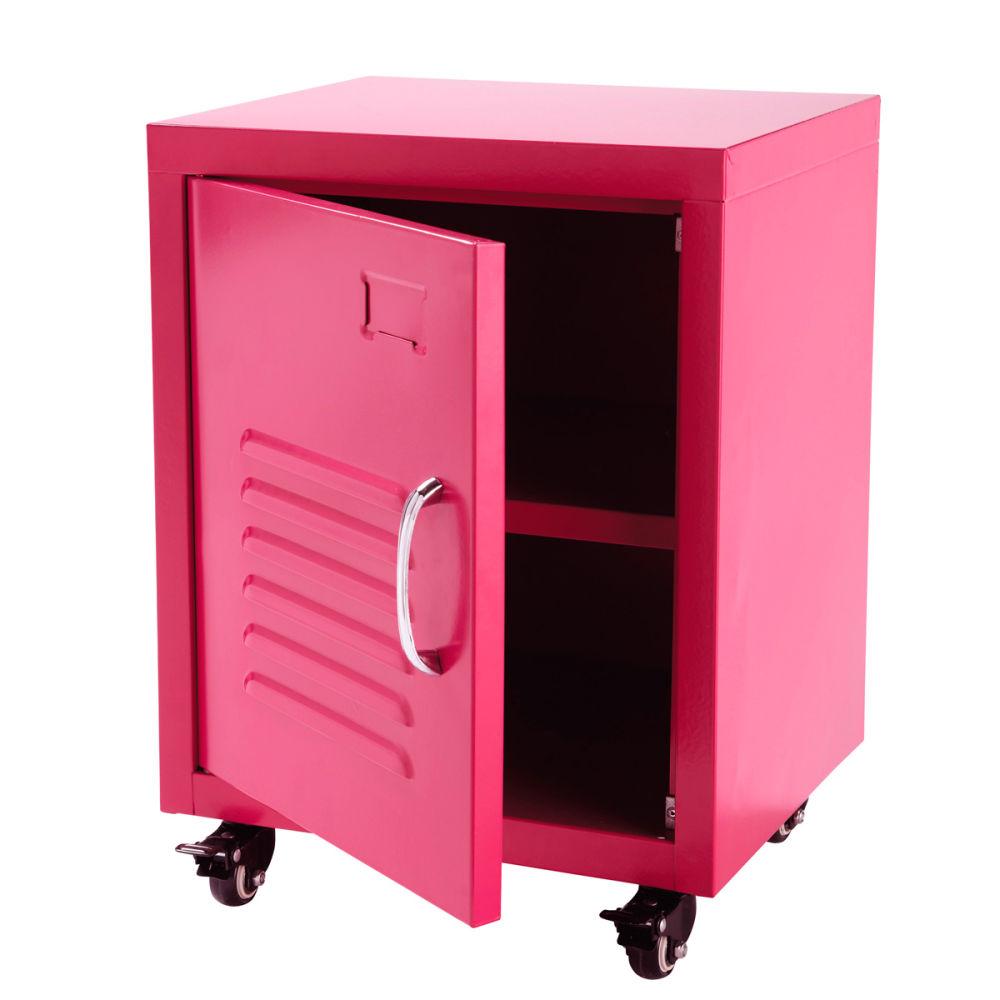 Metalen indus nachtkastje roze loft loft maisons du monde - Metalen nachtkastje ...