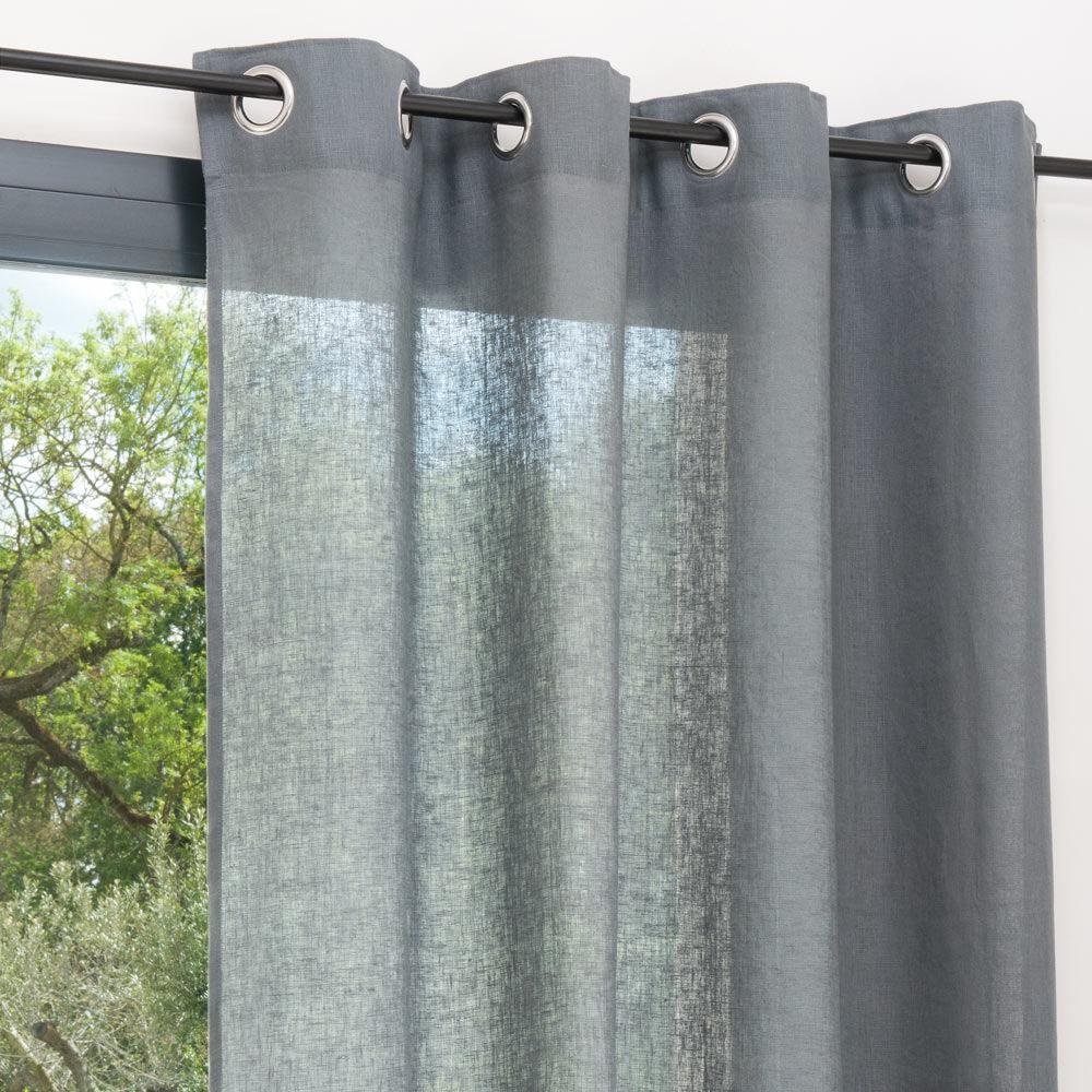 rideaux lin pas cher. Black Bedroom Furniture Sets. Home Design Ideas