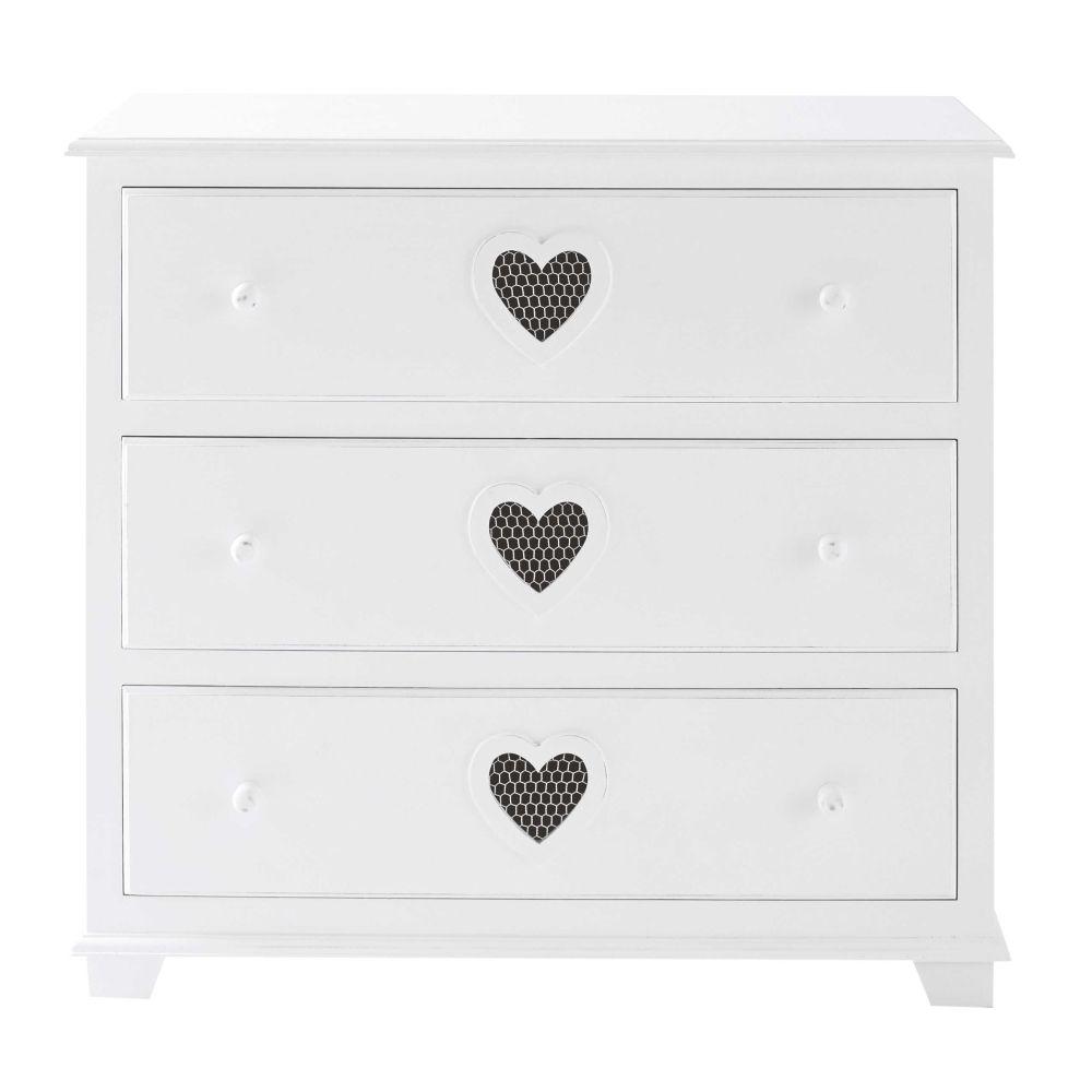 mode en bois blanc L 90 cm Valentine