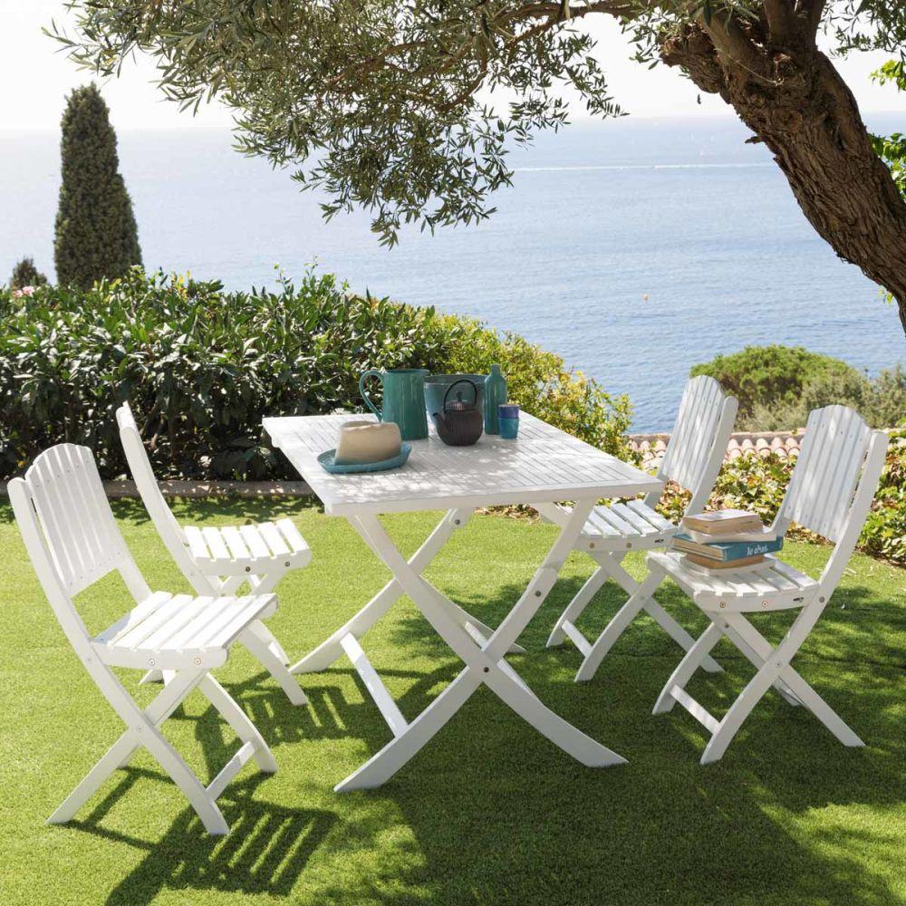 Chaise de jardin blanche Port-Blanc  Maisons du Monde