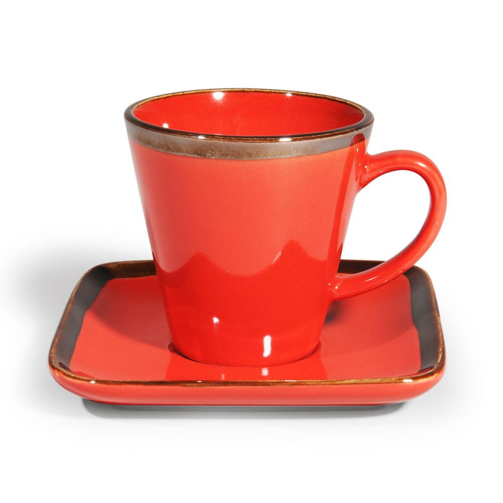 tasse caf en gr s rouge allure maisons du monde. Black Bedroom Furniture Sets. Home Design Ideas