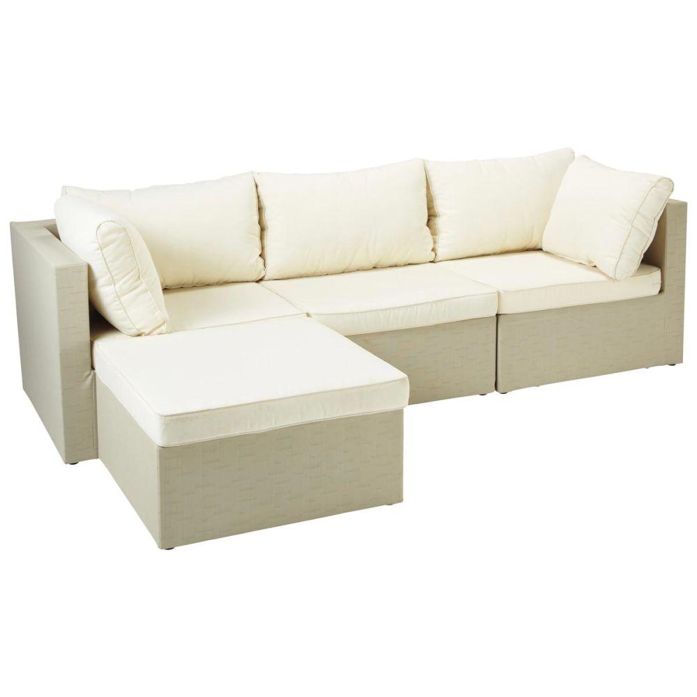 pouf d 39 ext rieur beige ibiza maisons du monde. Black Bedroom Furniture Sets. Home Design Ideas
