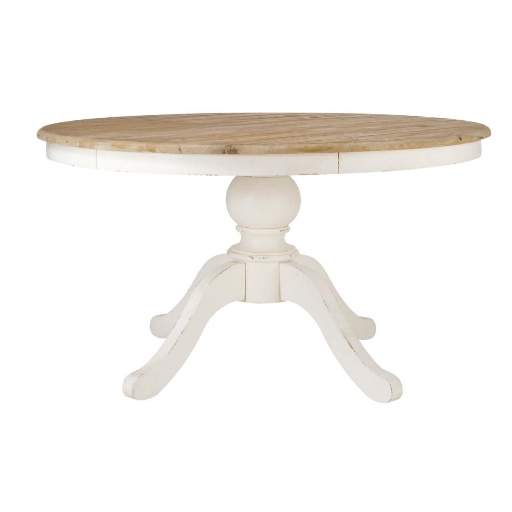 Table de salle manger en bouleau l 140 cm provence for Table a diner