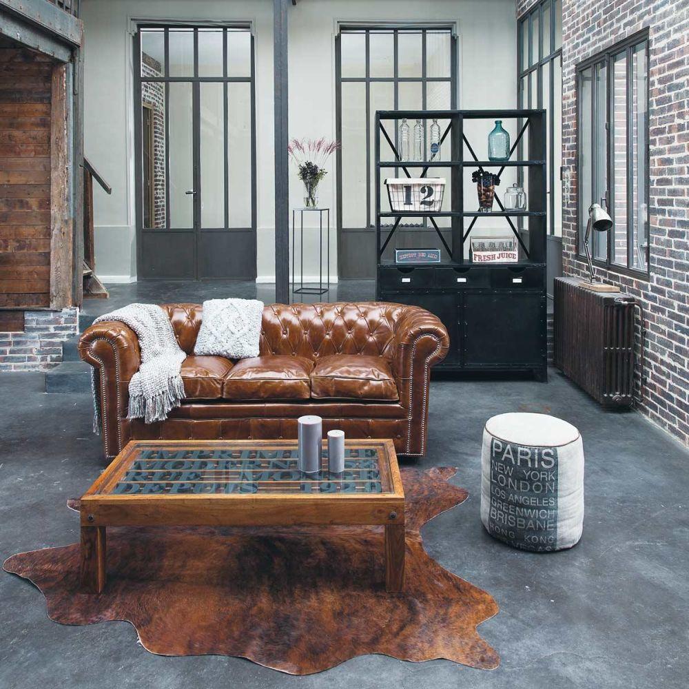 Table basse en acacia l 120 cm imprimerie maisons du monde - Maison du monde paris 12 ...