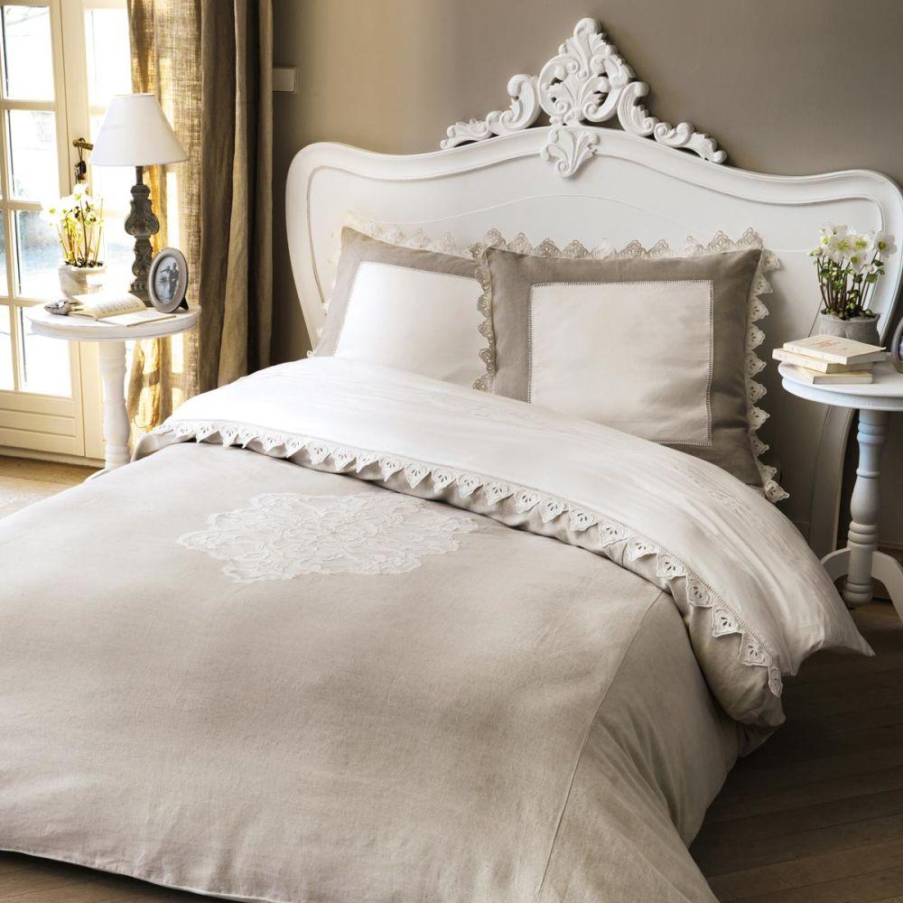 t te de lit en bois blanche l 202 cm comtesse maisons du monde