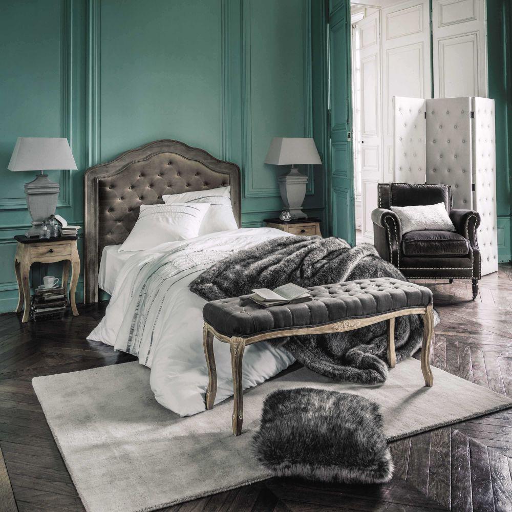 Parure de lit 220 x 240 cm en coton blanche lumi re - Parure de lit maison du monde ...