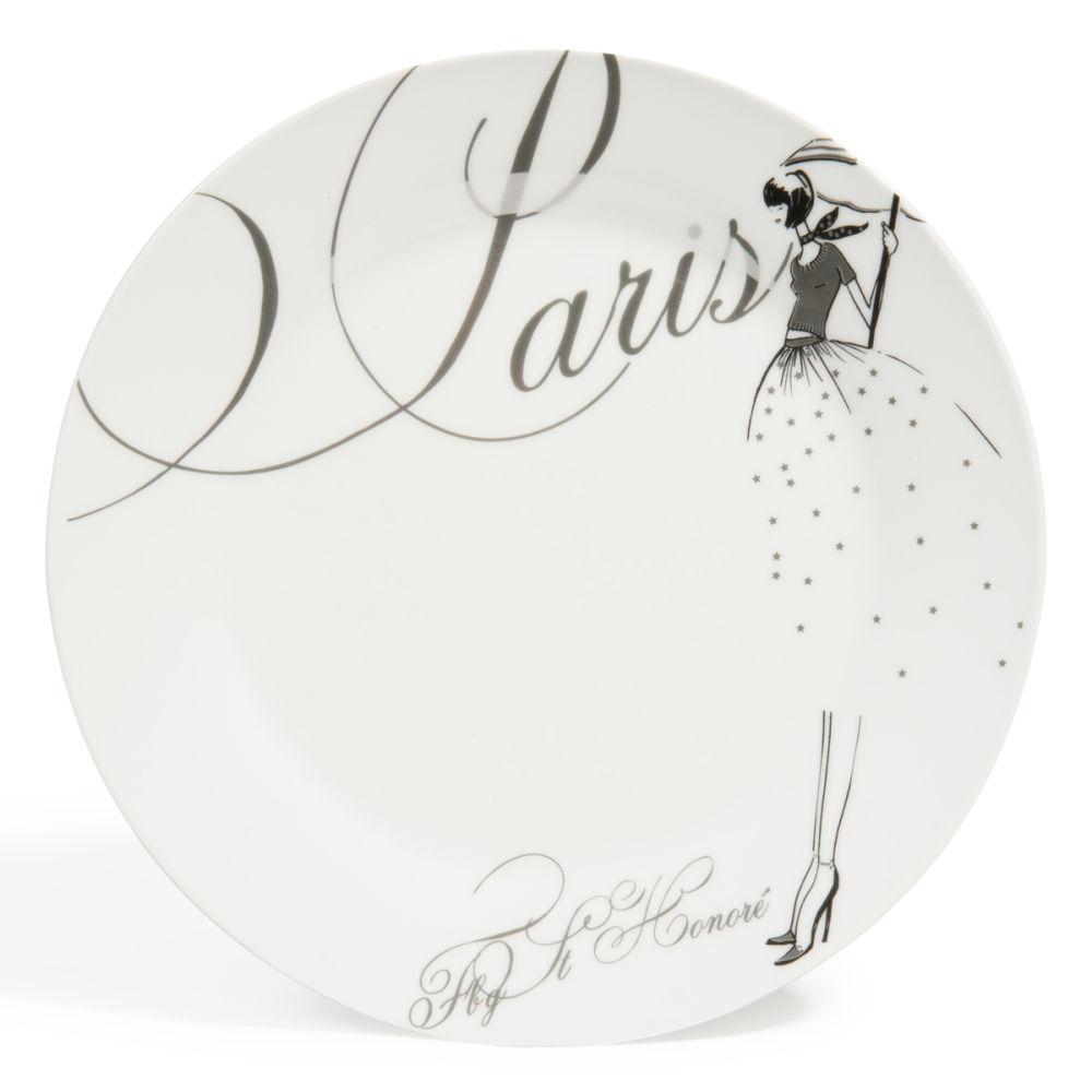 Assiette plate en porcelaine blanche d 27 cm paris modeuse maisons du monde - Maison du monde paris 12 ...