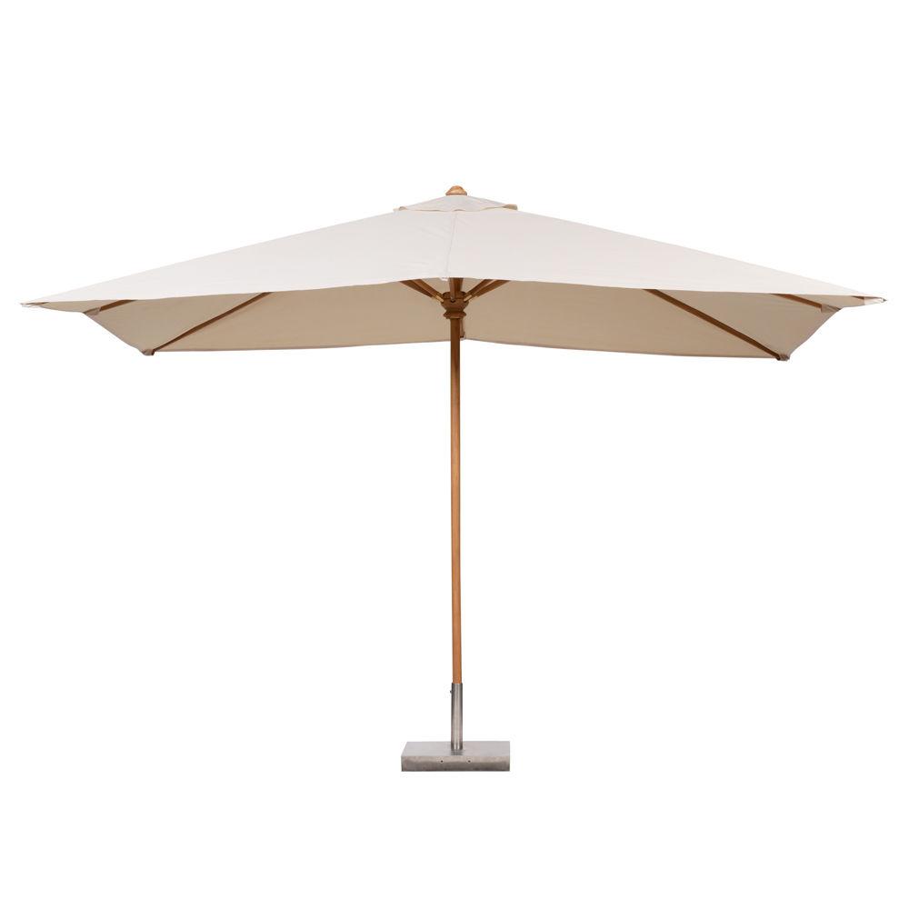 Parasol rectangle ivoire ol ron maisons du monde - Parasol de jardin rectangulaire ...