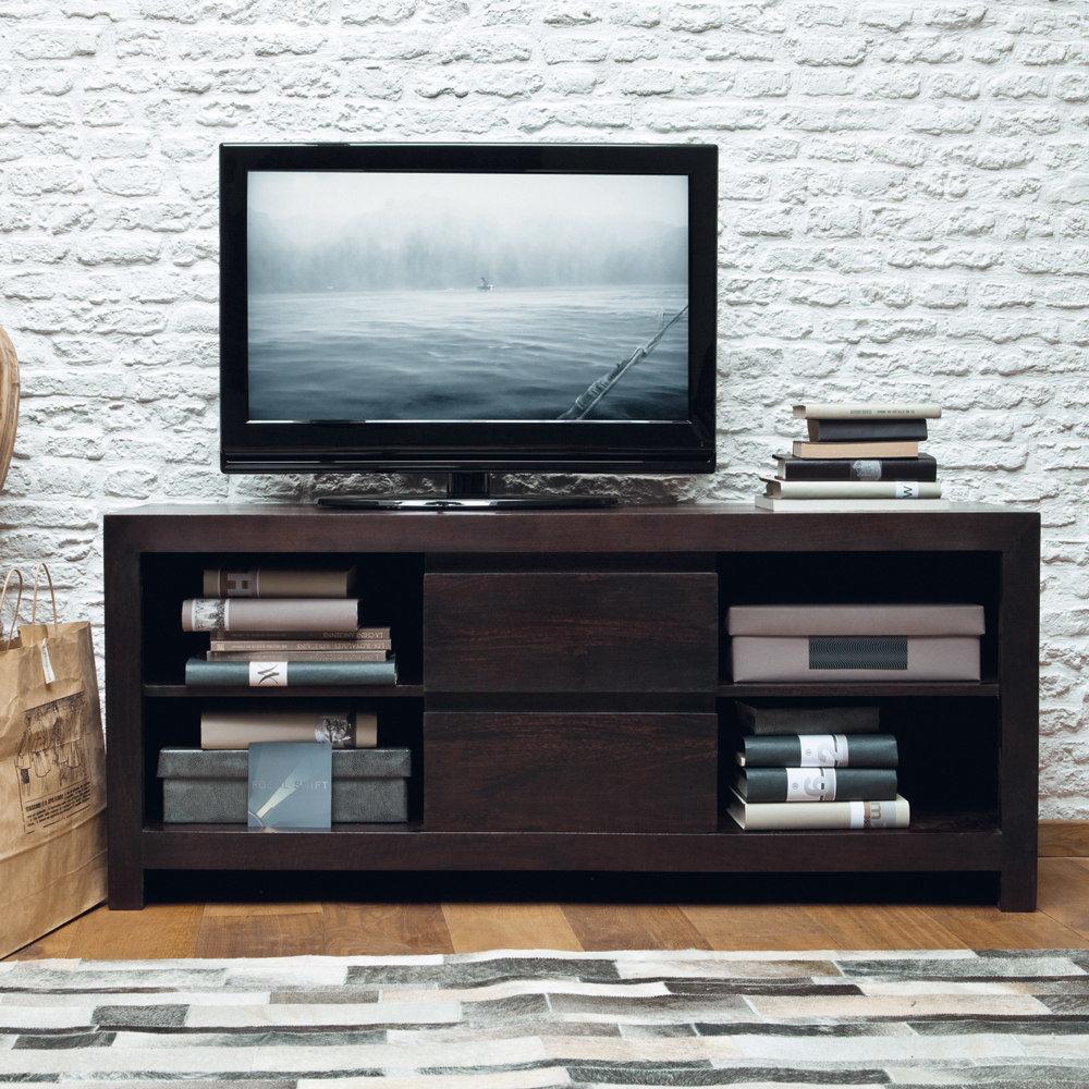 meuble tv en manguier massif l 140 cm bengali maisons du monde. Black Bedroom Furniture Sets. Home Design Ideas