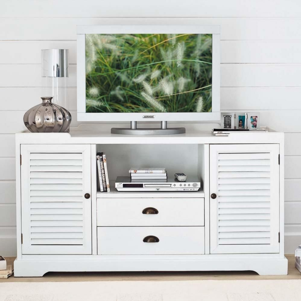 Meuble tv long island maisons du monde for Meuble tv 1m