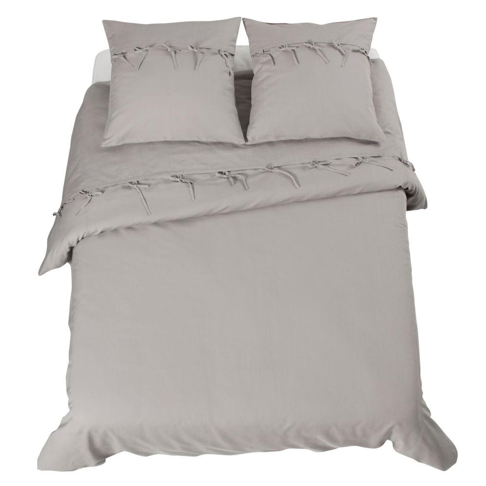 Parure cosy grise 220x240 maisons du monde for Linge de lit maison du monde