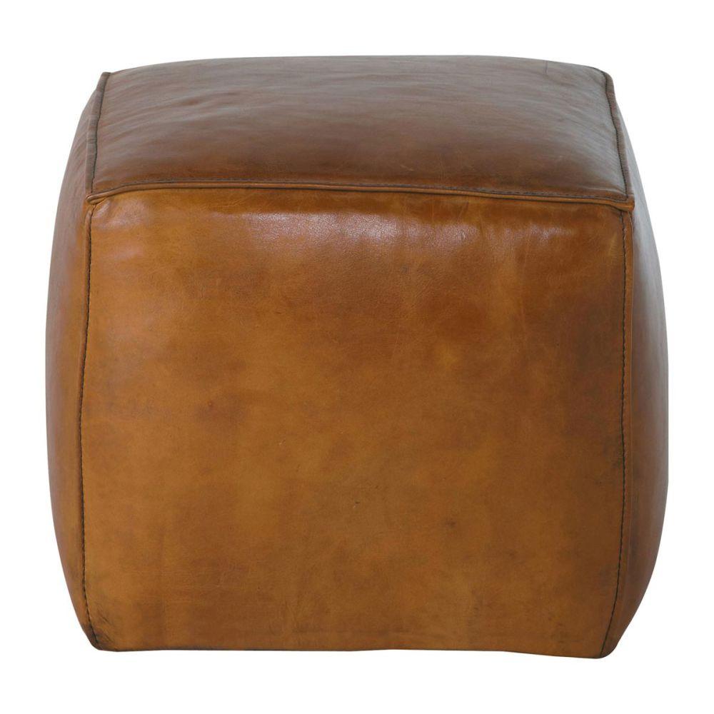 pouf cuir marron. Black Bedroom Furniture Sets. Home Design Ideas