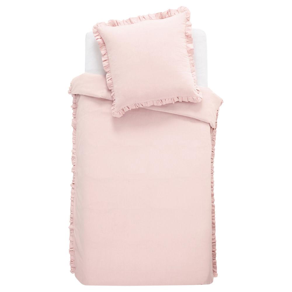 parure housse de couette enfant rose anais 140x200. Black Bedroom Furniture Sets. Home Design Ideas