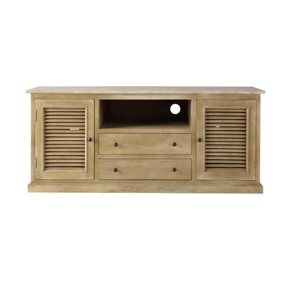 meuble tv bois exotique maison du monde. Black Bedroom Furniture Sets. Home Design Ideas