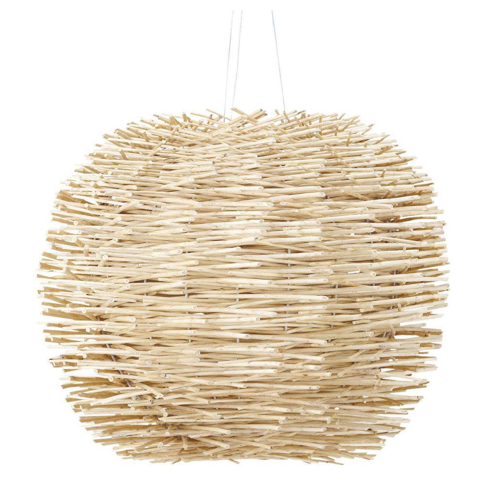 suspension boule rotin natura maisons du monde. Black Bedroom Furniture Sets. Home Design Ideas