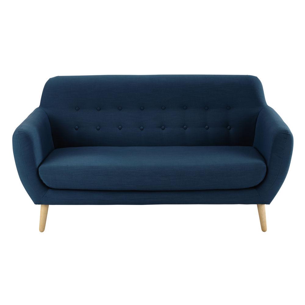skandinavischer-sofa 2-/3-sitzig aus stoff, petrolblau iceberg, Schlafzimmer entwurf