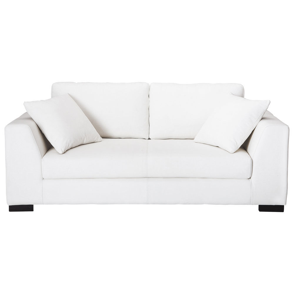 Canap cuir blanc convertible pas cher univers canap - Canape blanc convertible pas cher ...