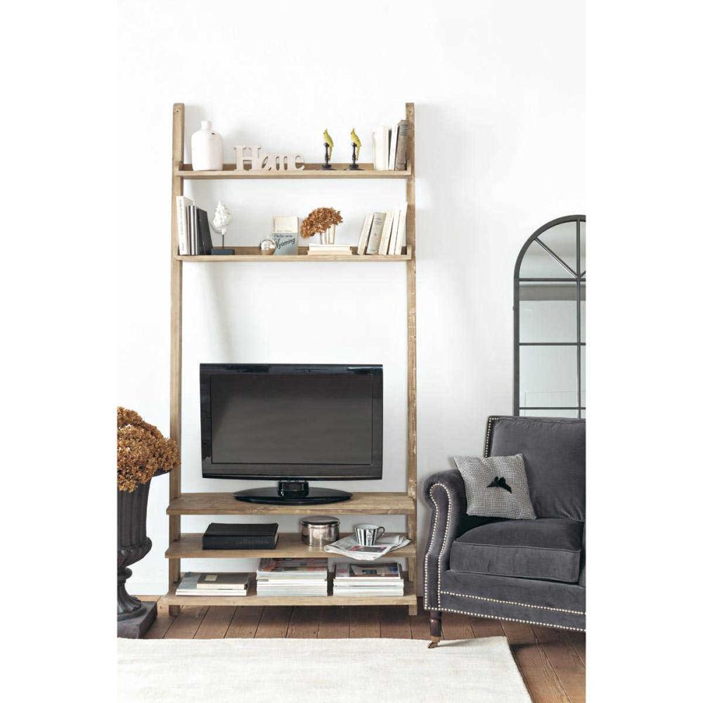 Étagère TV en bois recyclé L 110 cm Varenne  Maisons du Monde -> Rangement Tv