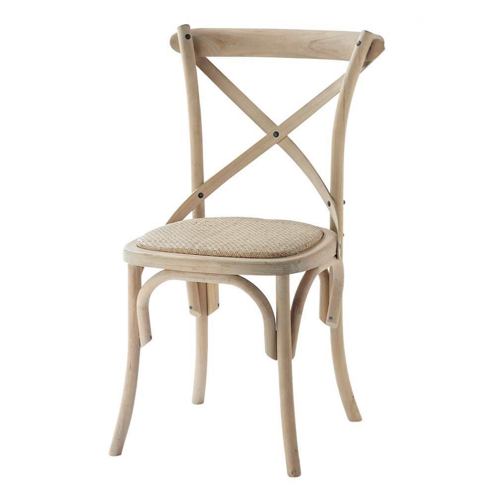Maison Du Monde Fauteuil Rotin chaise bistrot en rotin et bouleau tradition | maisons du monde